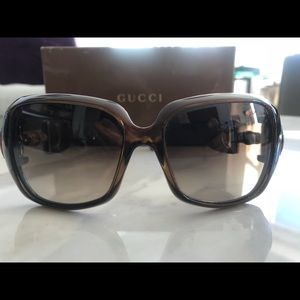 Authentic Gucci sunglasses with Bamboo accent
